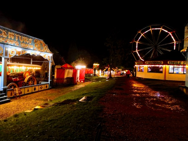 Exciting evening at Hollycombe Steam Fair yesterday