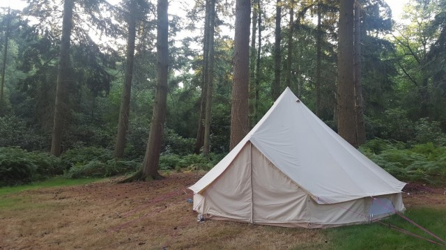 Fancy a weekend away? Why not camp in style? #belltent #hampshire #southdowns